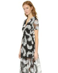 Line & Dot Soft Feather Dress - Black Feather