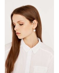 Cheap Monday - Metallic Salt Pearl Silver Ear Cuff - Lyst