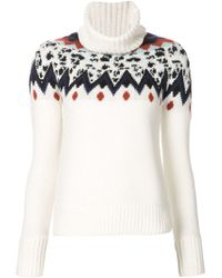 Veronica Beard - Black Intarsia Knit Sweater - Lyst