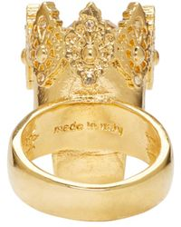 Alexander McQueen | Metallic Gold King Ring | Lyst