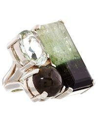 Stephen Dweck | Green Silver Bicolour Tourmaline Ring | Lyst