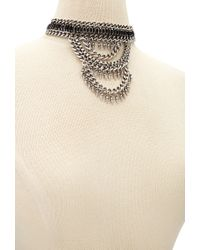 Forever 21 - Metallic Tiered Faux Gemstone Choker - Lyst