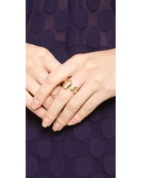 Aurelie Bidermann Metallic Rivoli Ring