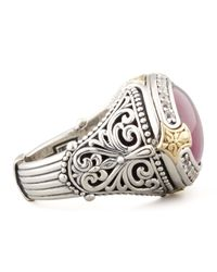 Konstantino - Purple Oval Silver 18k Gold Rubyquartz Doublet Ring - Lyst