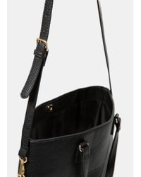 Violeta by Mango - Black Pebbled Shopper Bag - Lyst