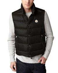 Moncler | Black Tib Puffer Vest for Men | Lyst