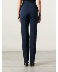 Stella McCartney Blue High Waist Trousers