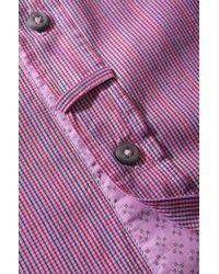 BOSS Orange Purple Slim Fit Shirt 'Eslime' In Cotton for men