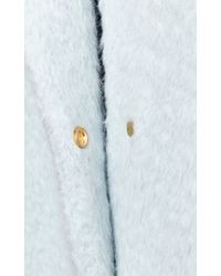 Rochas - Pale Blue Wool Alpaca Coat - Lyst