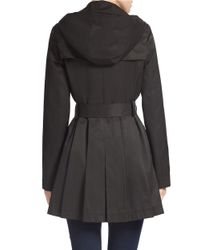 Via Spiga Black Double-breasted Trench Coat