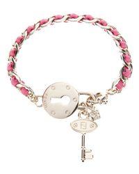 Fendi | Pink Lock and Key Bracelet | Lyst