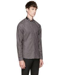 Givenchy Black Star Collar Shirt for men
