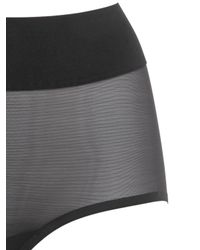 Wolford Black Sheer Touch Control Brief