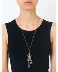 Servane Gaxotte - Metallic Rabbit Doll Pendant Necklace - Lyst