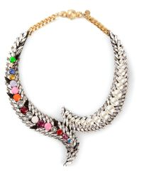 Shourouk | Multicolor 'piuma' Necklace | Lyst
