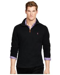 Polo Ralph Lauren - Black Pink Pony Ribbed Pullover for Men - Lyst