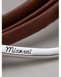 Miansai - Brown Large Hook Bracelet - Lyst