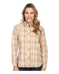Roper Brown Earth Tone Plaid With Embroidery