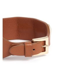 Valentino - Brown Rockstud Large Leather Bracelet - Lyst