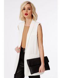 Missguided - Tolipa Sleeveless Longline Blazer In White - Lyst