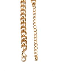 Forever 21 - Metallic Long Faux Stone Necklace - Lyst