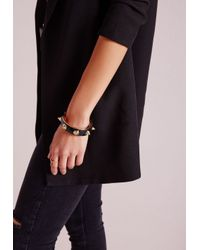 Missguided - Heavy Spike Bangle Black - Lyst