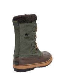 Sorel Brown 1964 Pac Waterproof Nylon Winter Boots