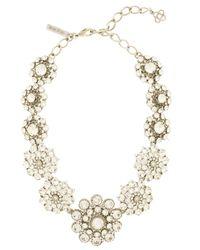 Oscar de la Renta - Metallic Crystal Necklace - Lyst