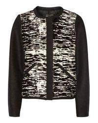 Isabel Marant - Black Bremon Printed Calf Hair And Wool-felt Jacket - Lyst