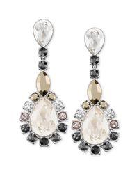 Swarovski White Palladiumplated Multicrystal Statement Earrings