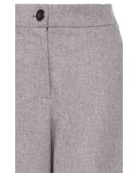 Vanessa Seward Gray Charly Flannel Culottes