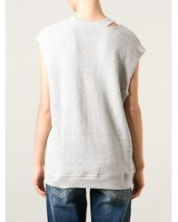 R13 Gray Cut-Out Shoulder Vest
