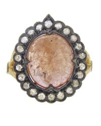 Cathy Waterman - Pink Scalloped Frame Sapphire Ring - Lyst