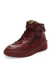 Valentino Purple Rock Be Camo High-top Sneaker