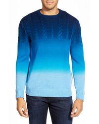 Bugatchi - Blue Ombre Merino Wool Sweater for Men - Lyst