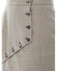 McQ - Gray Houndstooth Asymmetric Panel Skirt - Lyst