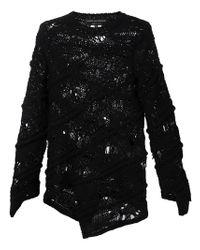 Comme des Garçons - Black Open Knit Sweater - Lyst