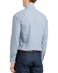 Ted Baker | Blue Thewolf Micro Tile Slim Fit Button Down Shirt for Men | Lyst