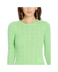 Polo Ralph Lauren - Green Cable-knit Cashmere Sweater - Lyst