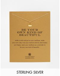 Dogeared | Metallic Gold Plated Be Your Own Kind Of Beautiful Reminder Necklace | Lyst