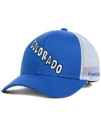 Reebok | Blue Colorado Avalanche Jersey Hook Trucker Snapback Cap for Men | Lyst