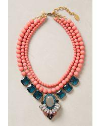 David Aubrey - Pink Gallica Bib Necklace - Lyst
