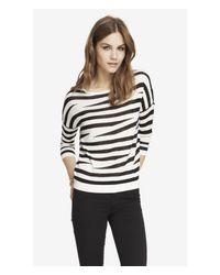 Express Black Zebra Print Dolman Sweater