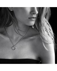 David Yurman - Metallic Petite X Heart Pendant Necklace With Diamonds - Lyst