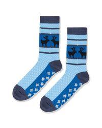 TOPSHOP - Blue Hot Sox Reindeer Ankle Socks - Lyst