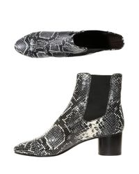 Isabel Marant | Natural Danae Snake-effect Leather Ankle Boots | Lyst