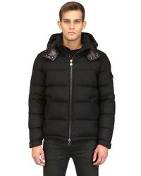 Moncler Black Montgenevre Light Flannel Down Jacket