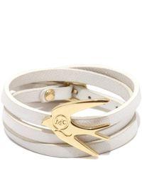 McQ White Swallow Triple Wrap Bracelet