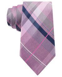 Michael Kors - Pink Michael Twin Tone Plaid Tie for Men - Lyst
