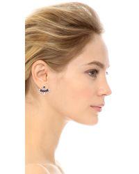 DANNIJO - Purple Dawson Earrings - Silver/crystal/royal Blue - Lyst